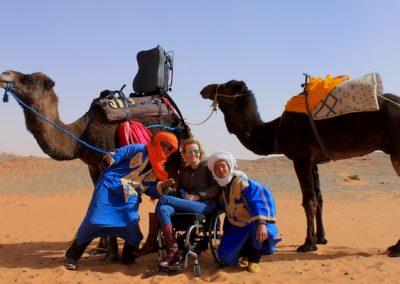 Desert Camel Ride Wheelchair