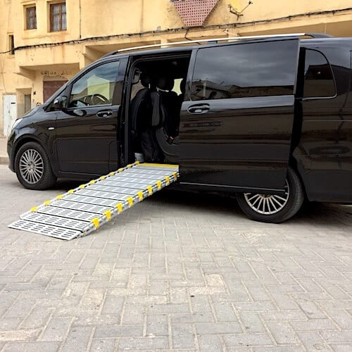 Mercedes Vito with a side ramp