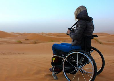 Taking a photo in the Sahara Desert
